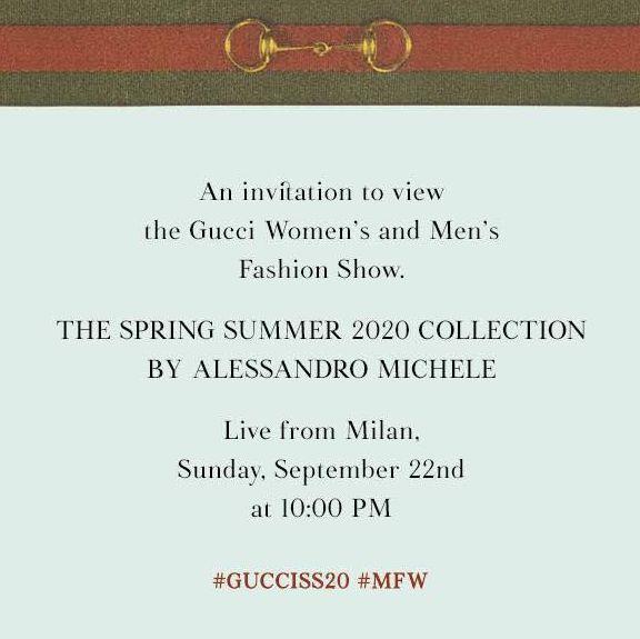 GUCCI 2020 春夏大秀