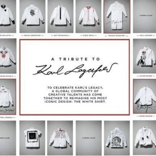 <p>悼念老佛爺 時尚界發起白襯衫計劃</p>