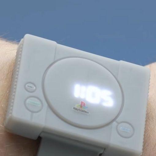 遊戲界集體回憶!電玩遊戲迷必收PS1電子腕表!