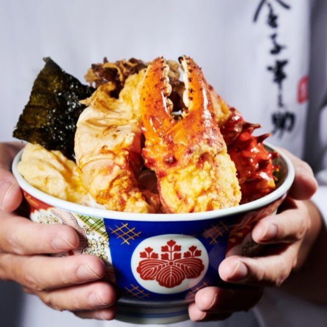 最奢華的珍味、最平實的價格!金子半之助推出頂級「帝王蟹天丼」