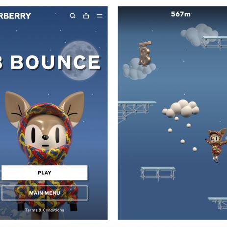 首款線上遊戲B Bounce Burberry開啟月球之旅
