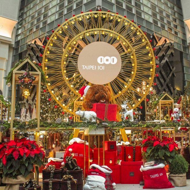 媲美巴黎 Le Bon Marché 耶誕裝置在台北 101!首座全自動「耶誕禮物夢工廠」世界級的裝置藝術